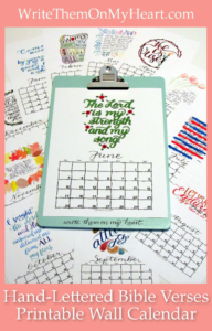 Need a printable wall calendar with hand-lettered monthly Bible verses? Speaking of calendar, let's discuss the B.C. and A.D. timeline with Christ at the center!