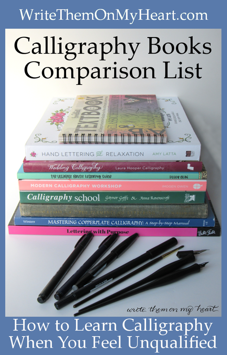Want to do calligraphy but feel unqualified? Use these books to learn. And remember the Lord doesn't call the qualified, He qualifies the called.