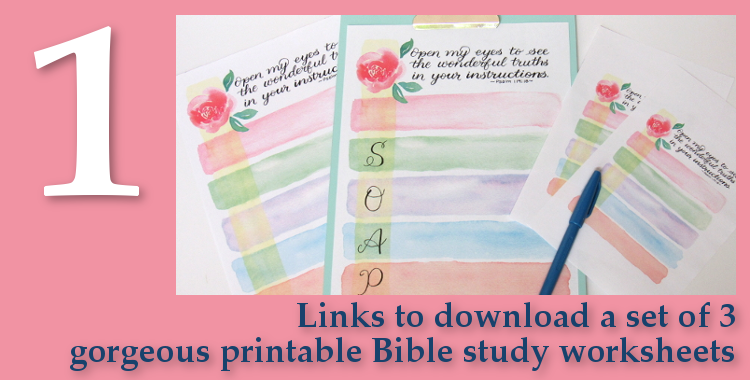 Free Gifts - Set of 3 Bible Study Worksheets