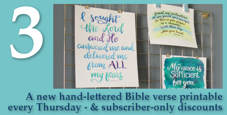 Free Gifts - New Bible Printable Every Thursday
