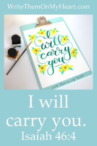 Get on board, girl. Step inside His will, take a seat and let God carry you. -Holley Gerth from her book Coffee For Your Heart. Isaiah 46:4: I will carry you.