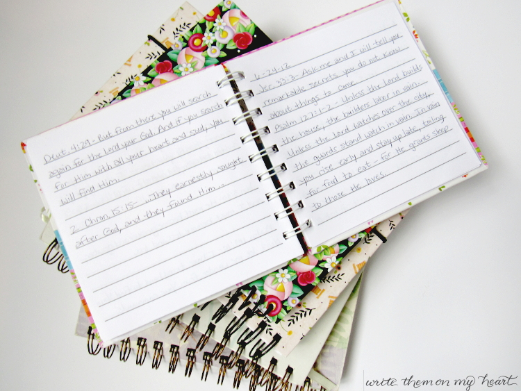 My Early Verse Journals from Write Them On My Heart