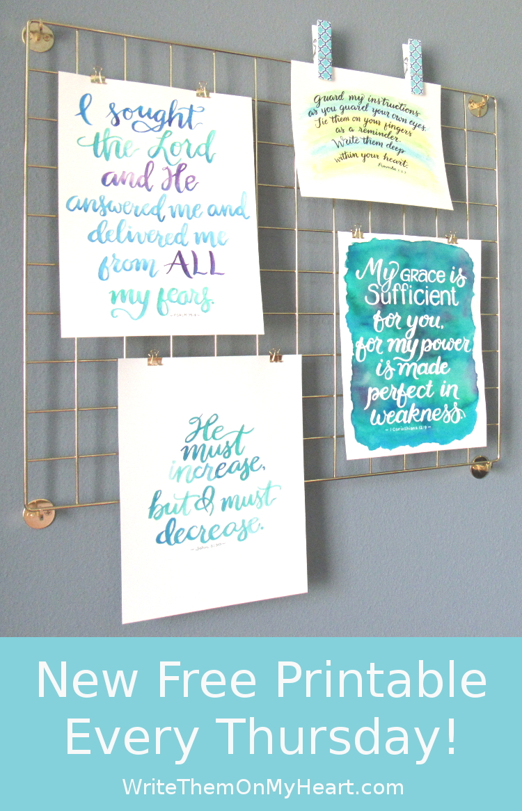 New Free Bible Printable Every Thursday
