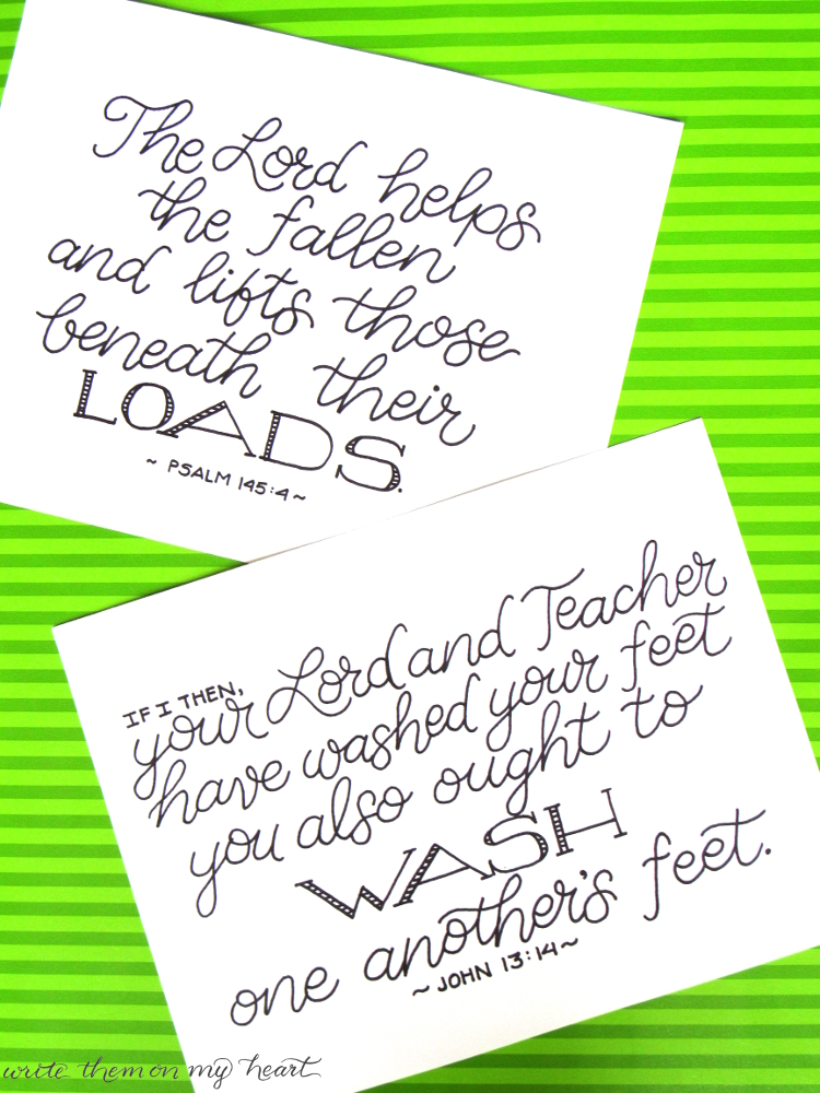 Bible Verses for your laundry room! A nice reminder of Who you are serving and why!