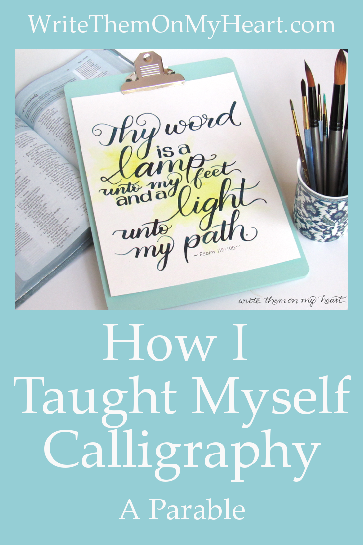 Learning calligraphy seems to go in cycles. It comes back in fashion every 20 years or so, when everyone jumps on the bandwagon again. I can show you how