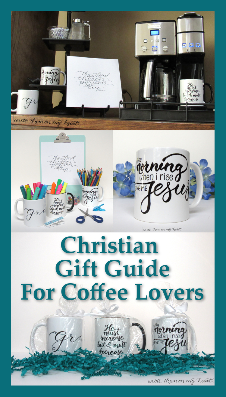 Look no further. Here is the ideal Christian Gift Guide for your favorite coffee lover! From mugs to coffee to wall art and even books - it's all here!