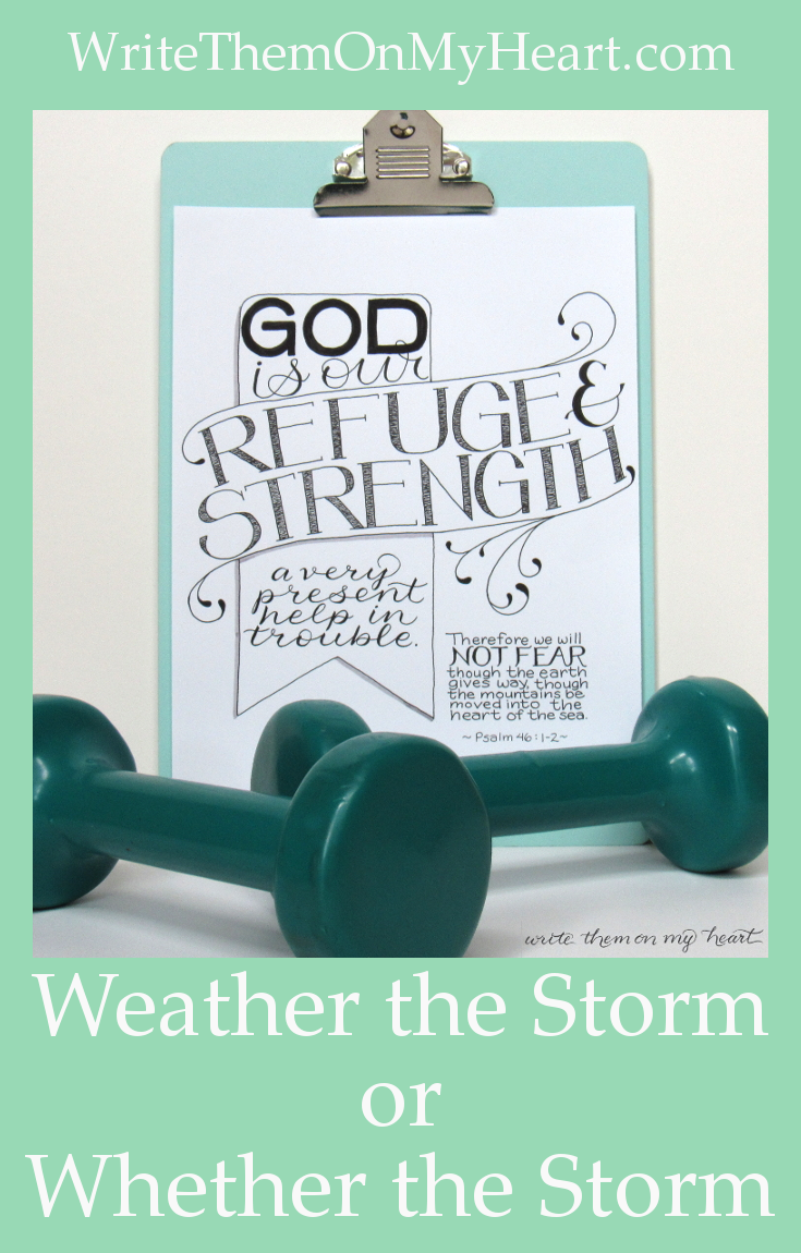 How can God be my refuge and strength to weather the storms of life, whether they bring destruction or miracles? Psalm 46.