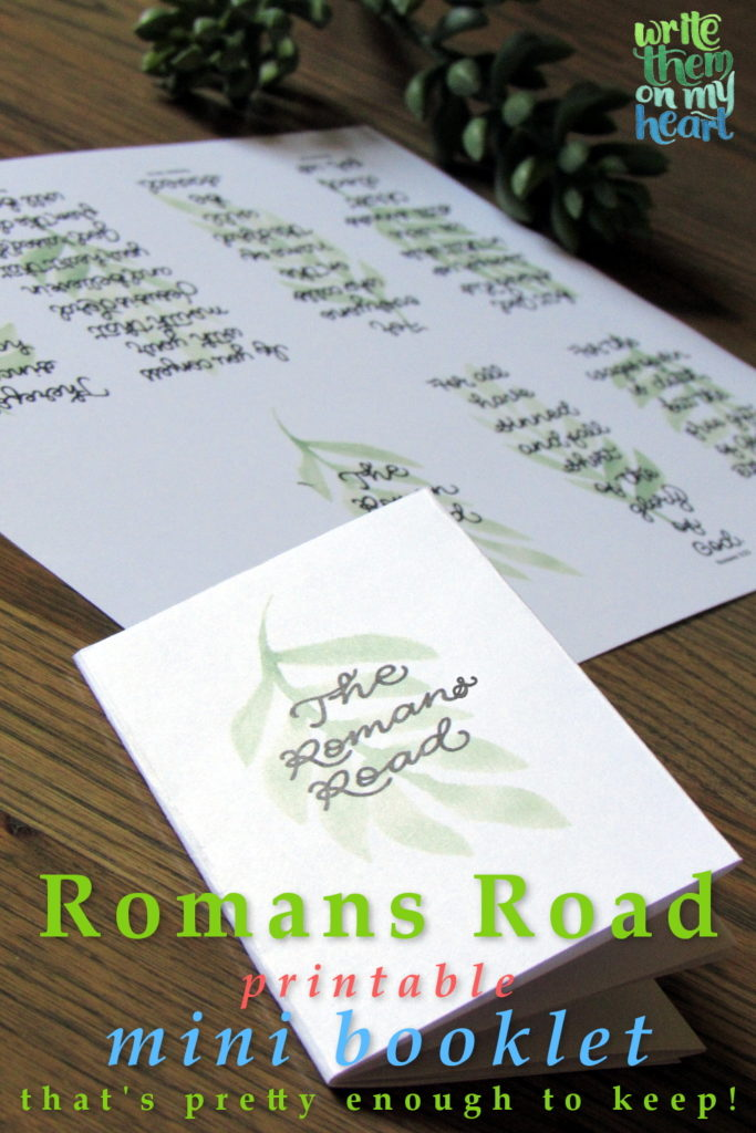 picture regarding Romans Road Printable called Romans Street towards Salvation Printable Booklet - Create Them Upon