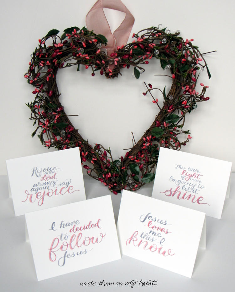 Christian Valentines Day Note Cards