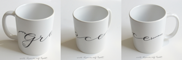 Christian Coffee Mugs that point to Jesus make wonderful gifts. How about this one with Amazing Grace in modern calligraphy?